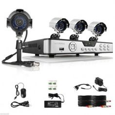 The best do it yourself wireless home security systems home 8 ch channel h264 dvr 4 outdoor night 600tvl home cctv security camera system solutioingenieria Images