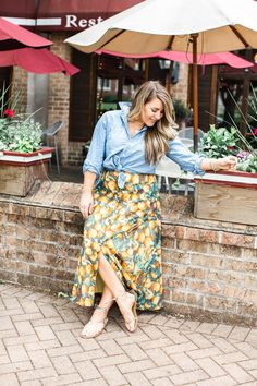 Fruit Printed Maxi Skirt | Coffee Beans and Bobby Pins