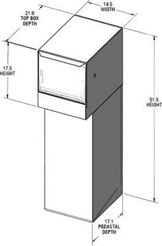 Package Master Locking Post Mounted Mailbox Mailboxes