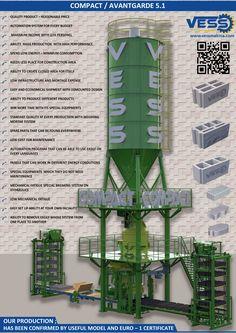 Vess Hollow Block Machine, Paving Machine, Concrete Plants | Avantgarde 5.1 Concrete Block - Paving Block - Curbstone Machine