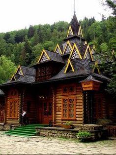 """Restaurante """"Hutsulshchyna"""", Yaremche, W Ukraine, from Iryna wih love"""