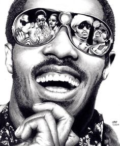 Stevie Wonder, by Rick-Kills-Pencils. Wow what an amazing drawing. Love me some Stevie Wonder. Celebrity Caricatures, Celebrity Portraits, Stevie Wonder, Realistic Pencil Drawings, Art Drawings, African American Art, Marlon Brando, Pencil Portrait, George Clooney