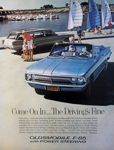 1962 Oldsmobile F-85 Convertible Vintage Advertisement by RelicEclectic on Etsy, $8.00