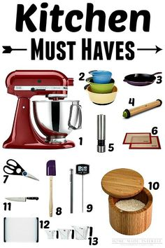 13 items for your kitchen that you MUST HAVE! They will make your life so much easier. These kitchen gadgets make cooking fun! Great gift ideas for people who love to cook or bake!