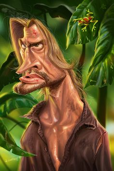 """Caricature of Sawyer from """"Lost"""""""