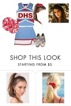 """""""tabi's cheerleading uniform"""" by hippie-van-and-flowers ❤ liked on Polyvore featuring Venus and adidas"""