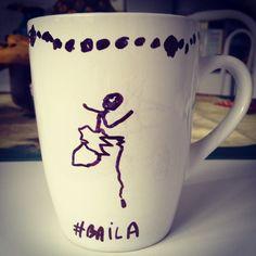 Café de bailarina da minha pequena www.diariodebordo.net.br #cafe #cafeina #baila #bailarina #caneca #danca #arte