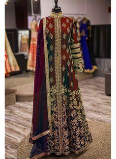 Maroon Superb Designer Embroidered Anarkali Suit in Banglori Silk