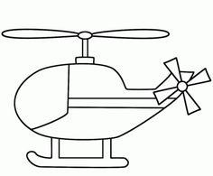 Helicóptero Sencillo Dibujo para colorear