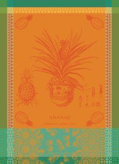 FRENCH JACQUARD KITCHEN // TEA TOWEL ANANAS EN POT GARNIER THIEBAUT PINEAPPLE
