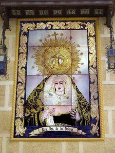 Retablo Cerámico de 60 x80cms. Virgen de los Dolores