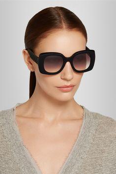 Bottega Veneta Square-frame acetate and rubber sunglasses NET-A-PORTER.COM