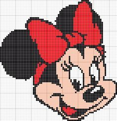 Minnie Disney hama perler beads pattern