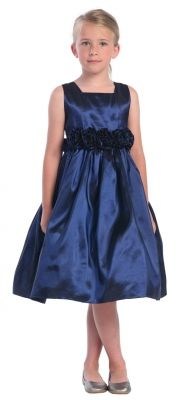 Flower Girl Dress Style 3047 - SALE Navy sizes 24 months or 2 (1 piece left each)