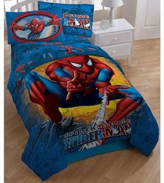 Marvel Comics Spider Man Burst Twin Full Bed Comforter, One Marvel Comics  Spider Man Burst Twin Full Size Comforter 72 X 86 In. Cm X 218 Cm).