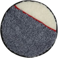 Seat Cusion in sheepskin with decoration in  red or blue wool. Edging in reindeer skin. www.ateljenord.com