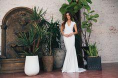 Josephine Gown  #noelandjean #bykatiemay #entrenouscollection #bohobride #bridal #fashion Photography by Nicole Hill @nicollhill_ , Model: Karina Nicholson @kaarines www.noelandjean.com