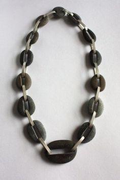 63-007 Bracelet beach stone charms stone beads drilled river rocks drilled pebbles pebble beads river stone beads ketten kiesel \ube44\uc988
