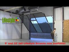 Lifestyle Screens Adds 9u0027H And 10u0027H Garage Door Screen   YouTube