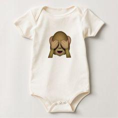 #cute #baby #bodysuits - #Cute See No Evil Monkey Emoji Baby Bodysuit