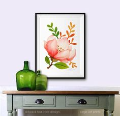Spring Flower watercolor poster Archival Print 11X14 Poster