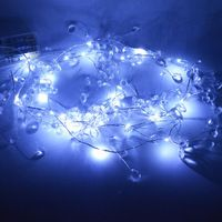 10PCS/LOT Free Shipping 2m Waterproof Crystal clear beads garland with mini wedding decorations LED lights string Pearl Garland, Beaded Garland, Wedding Decorations, Wedding Ideas, Led String Lights, Party Supplies, Free Shipping, Beads, Crystals