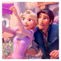 Rapunzel and Flynn Rider from Disney's Tangled. When something makes your girlfriend happy, of course you want to see what it is. Disney Pixar, Princesa Rapunzel Disney, Heros Disney, Rapunzel And Eugene, Film Disney, Tangled Rapunzel, Best Disney Movies, Disney Couples, Disney Tangled