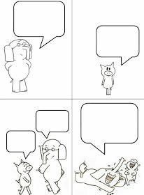 Make your own piggie and elephant comic strip!
