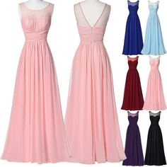 CHEAP!! PINK Masquerade Dress Formal Evening Party Bridesmaid Long PROM Dresses #Starzz #BallGown #Formal