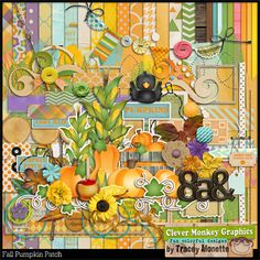Fall Pumpkin Patch by Clever Monkey Graphics - Digital scrapbooking kits available through Oscraps, GingerScraps, or MyMemories
