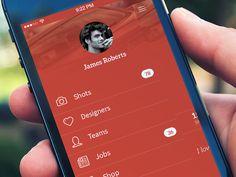 Menu Concept by Nuruzzaman Sheikh #UI #Mobile #Profile