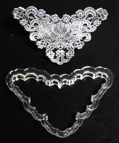 Embroidery lace cutters and impressions Fondant Cupcakes, Cupcake Cakes, Kiwi Cake, Heart Ring, Cake Decorating, Embroidery, Diamond, Lace, Rings