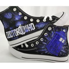 Doctor Who High-Top Shoes Men Women Painted Canvas Shoes, Hand Painted Shoes, Shoes Men, Top Shoes, Painting Shoes, Female Doctor, Unique Christmas Gifts, Chuck Taylor Sneakers, Doctor Who