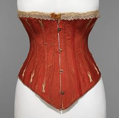 Corset, 1879–81. British. The Metropolitan Museum of Art, New York. Brooklyn Museum Costume Collection at The Metropolitan Museum of Art, Gift of the Brooklyn Museum, 2009; Gift of E. A. Meister, 1950 (2009.300.3109a–c)