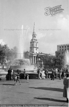 London, St Martin's And The Fountains c.1955. #HistoricLondon
