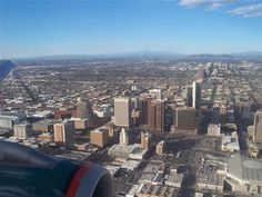Lovely landscape photos from Webshots Phoenix, Arizona - downtown area from the air State Of Arizona, I Want To Travel, Landscape Photos, San Francisco Skyline, Airplane View, San Diego, New York Skyline, Places To Go, Beautiful Places
