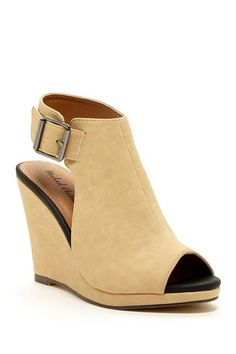 Michael Antonio Arianna Peep Toe Wedge Sandal
