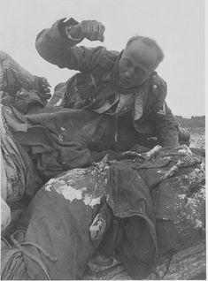Fallen Frozen German Soldiers at Stalingrad by  Unknown Artist