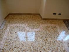 pavimento alla veneziana-realizzato con marmi gialli e rosa