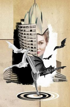 "Saatchi Art is pleased to offer the collage, ""Queen of Gotham,"" by Franz Falckenhaus. Original Collage: Digital on N/A. Collages, Collage Artists, Photomontage, Creative Background, Collage Illustration, Illustrations, Fashion Collage, Arte Pop, Art Graphique"