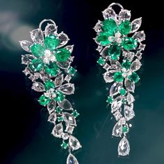 NIRAV MODI (@niravmodijewels) on Instagram: The beauty of rare vivid Panjshir emeralds is complemented by Jasmine cut® diamonds in the #NIRAVMODI Emerald Jasmine Earrings. #NIRAVMODIHighJewelry ⠀ niravmodijewels#Emerald #Diamond #Bridal #Jasmine #Earrings #Jewelry #HighJewelry #Luxury #Craftsmanshi