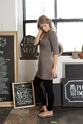 The Cabled Autumn Dress is a flattering knit dress with a cable band around the empire waistline. The waist is further accented by raised slip-stitch vertical stripes which narrow at the waist and flair out for the bust and hemlines. This dress also features a scooped neck, ¾ sleeves and rolled reverse stockinette stitch bands for the edge details.