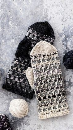 Lapaset jämälangasta / Miitens from coarse yarn Knitted Mittens Pattern, Knitted Gloves, Knitting Socks, Free Knitting, Knitting Patterns, Knit Crochet, Crochet Hats, Fingerless Mittens, Tricot
