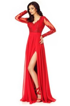 Be sure to turn heads this season when wearing our Darma dress. Featuring a red veil fabric with lace details and floor-sweeping length. Evening Dresses, Prom Dresses, Formal Dresses, Lace Detail, Veil, Womens Fashion, How To Wear, Outfits, Floor