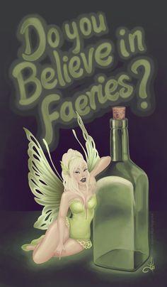 Green Faery by Metalblackfae.deviantart.com on @deviantART Absinthe