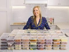 Founder of The Healthy Mummy, Rhian Allen, challenged herself to make a month's worth of food in just one day - and managed to slash her grocery bill to just £106 for a family of four