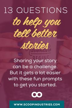 STORYTELLING BOOTCAMP :: Facts don't make connections and engage your readers in the same way storytelling does. If you want to succeed online, you need to fire up your digital storytelling. *PIN* these 13 thought provoking questions and find stories for your writing and business.