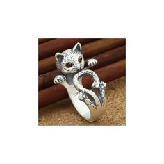 Cat Ring (290 RUB) ❤ liked on Polyvore featuring jewelry, rings, accessories, cat ring and cat jewelry