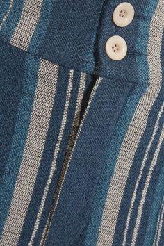 Chloé - Striped Cotton-blend Straight-leg Pants - Blue - FR44