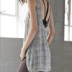 Gray Long Open Back Tunic Tank- SIZES: XS/S/M/XL Oh my gosh this is so cute! Sizes available: XS/S/M/XL. I love this super soft adorable tank! Brand new from Pacsun! Heather Gray Long Open Back Tunic Tank- SIZES: XS/S/M/XL PacSun Tops Tank Tops
